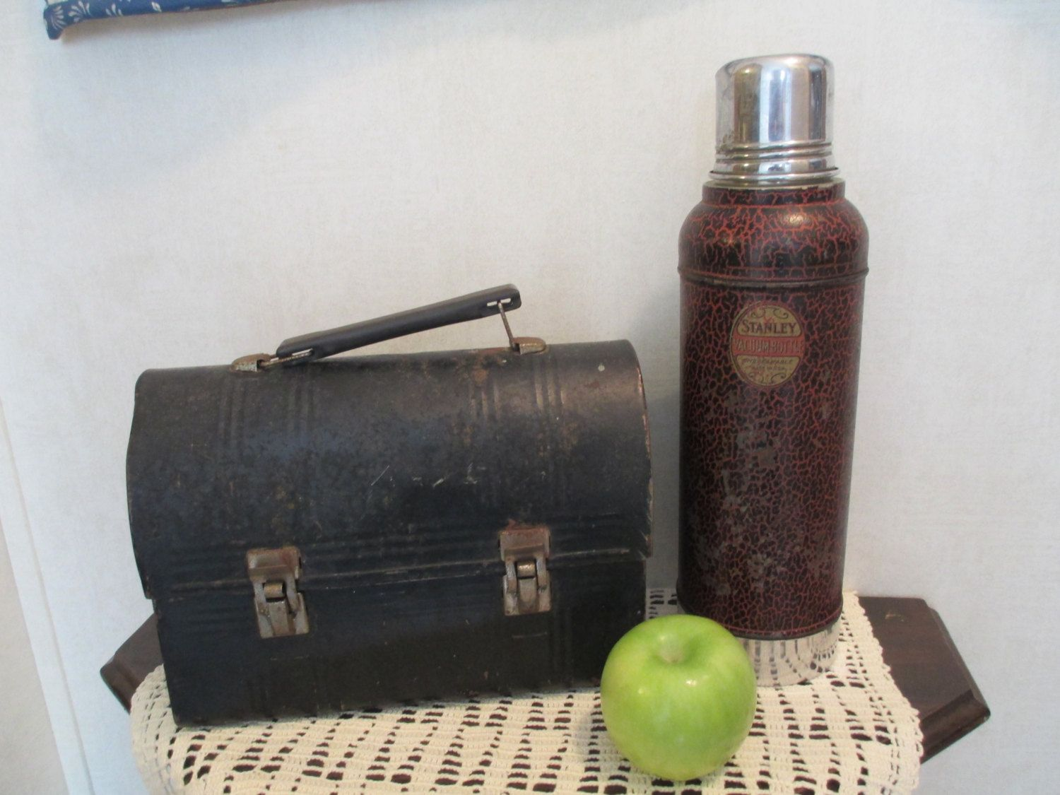 Vintage Stanley Vacuum Bottle Thermos with Cork Stopper