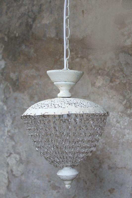 Kronleuchter Luster Landhaus Shabby Chic Antik Vintage Lampe Weiss