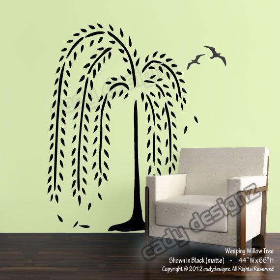 Weeping Willow Tree Wall Decal - Nursery Wall Decals - Home Decor ...