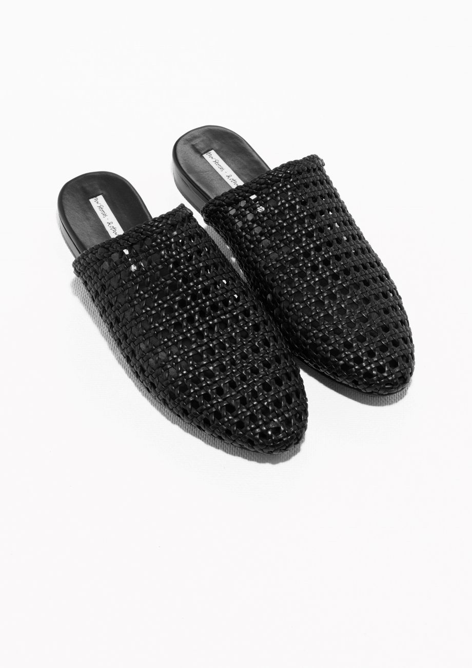 & OTHER STORIES Braided Leather Slippers