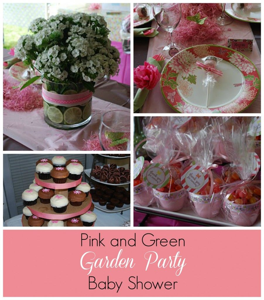 Pink and Green Garden Party Baby Shower
