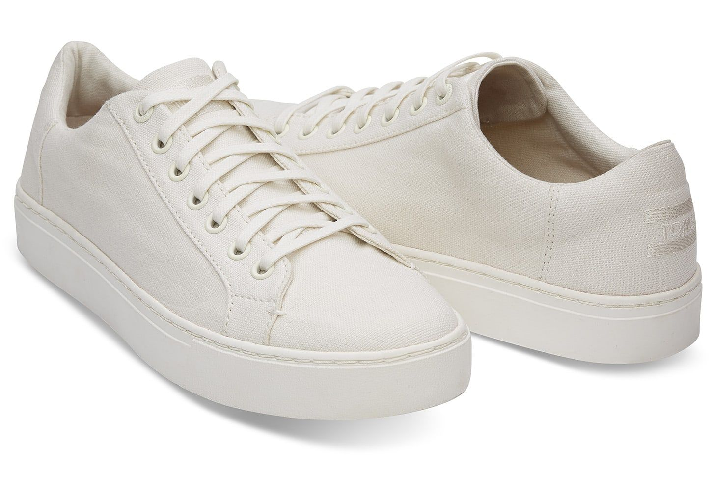 White Canvas Men's Lenox Sneakers