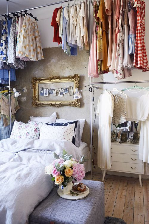 Love This Clothes Storage Idea Small Bedroom Closet Bedroom Small Spaces
