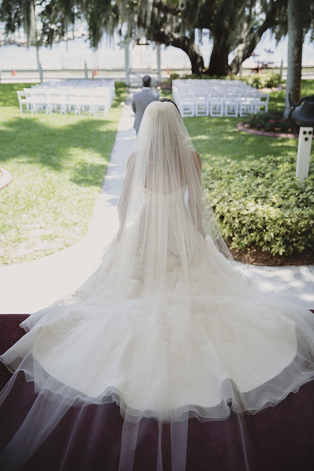 Vintage Garden Inspired Outdoor Sarasota Wedding Bridal Veils
