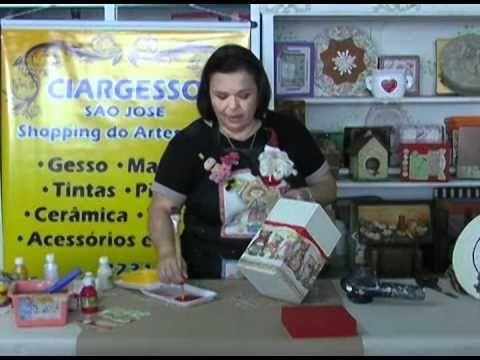 Linda embalagem de panetone para o Natal (Regiane Boppre) - YouTube