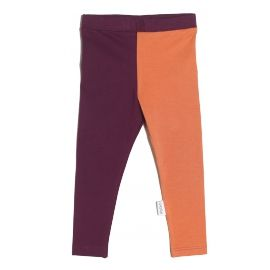 Leggings, burgundy/copper
