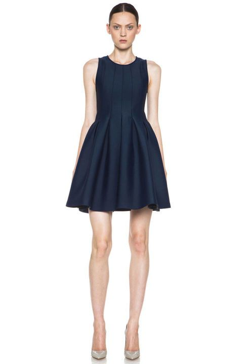 MSGM Neoprene Fit and Flare Dress, $830; forwardforward.com