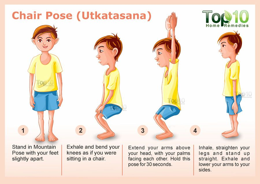 Chair Pose for yoga Utkatasana