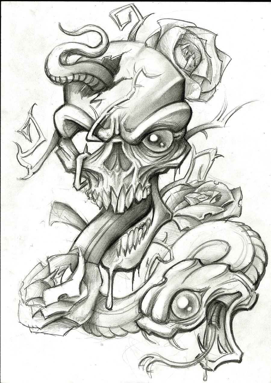 Snake and skull by stephcand snake pinterest snake tattoo snake and skull by stephcand thecheapjerseys Choice Image