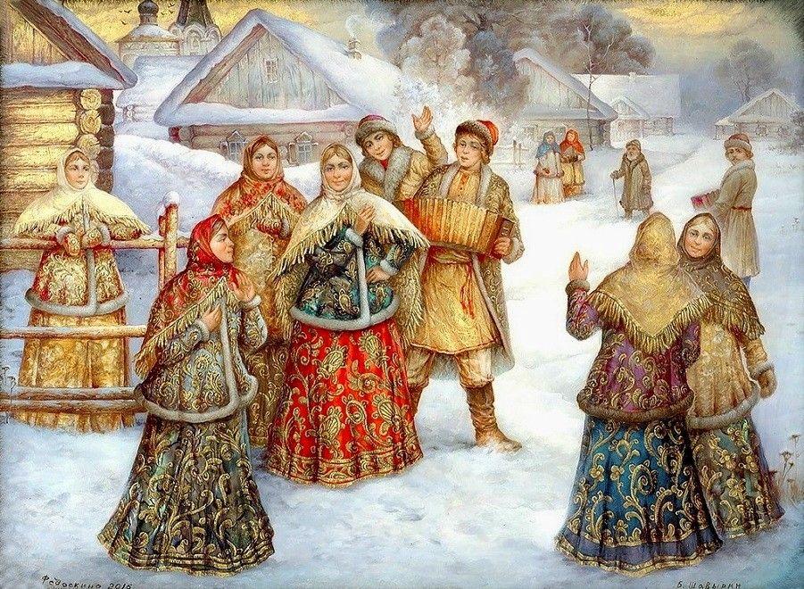 русские народные картинки зима портрет фото или