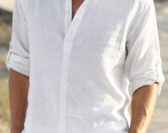 Bien connu Homme chemise en lin blanc | mariage | Pinterest | Hommes, Papa et  CR38