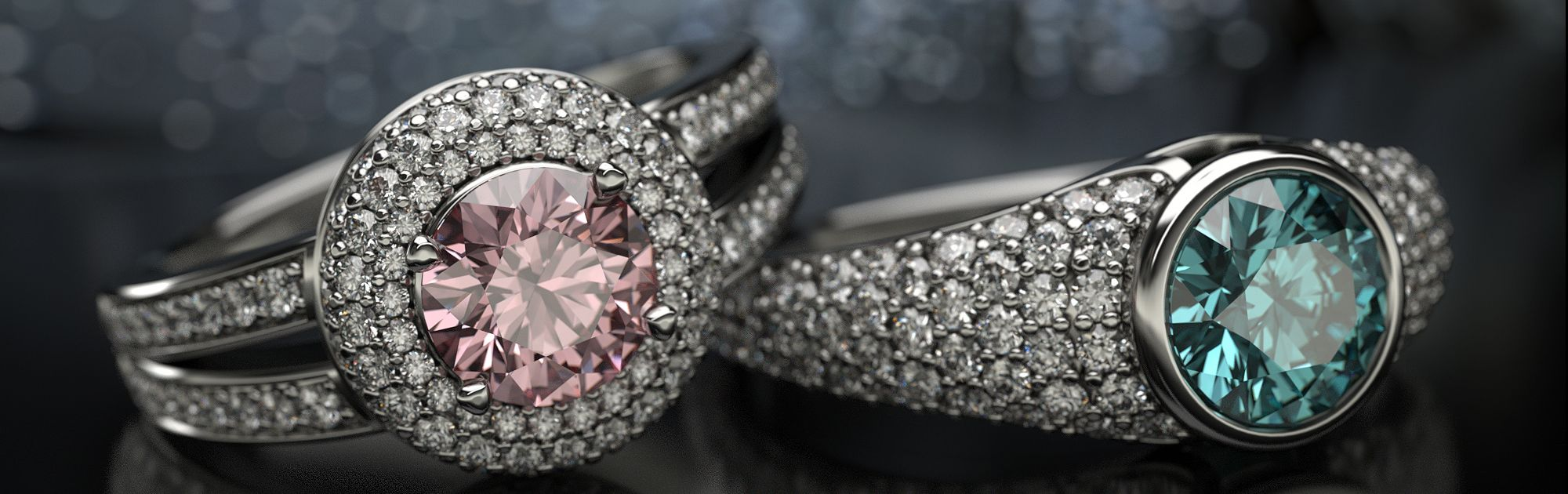 @JeweliveUK Creating web banners that enhance online visual experience #3d #jewelry #marketing