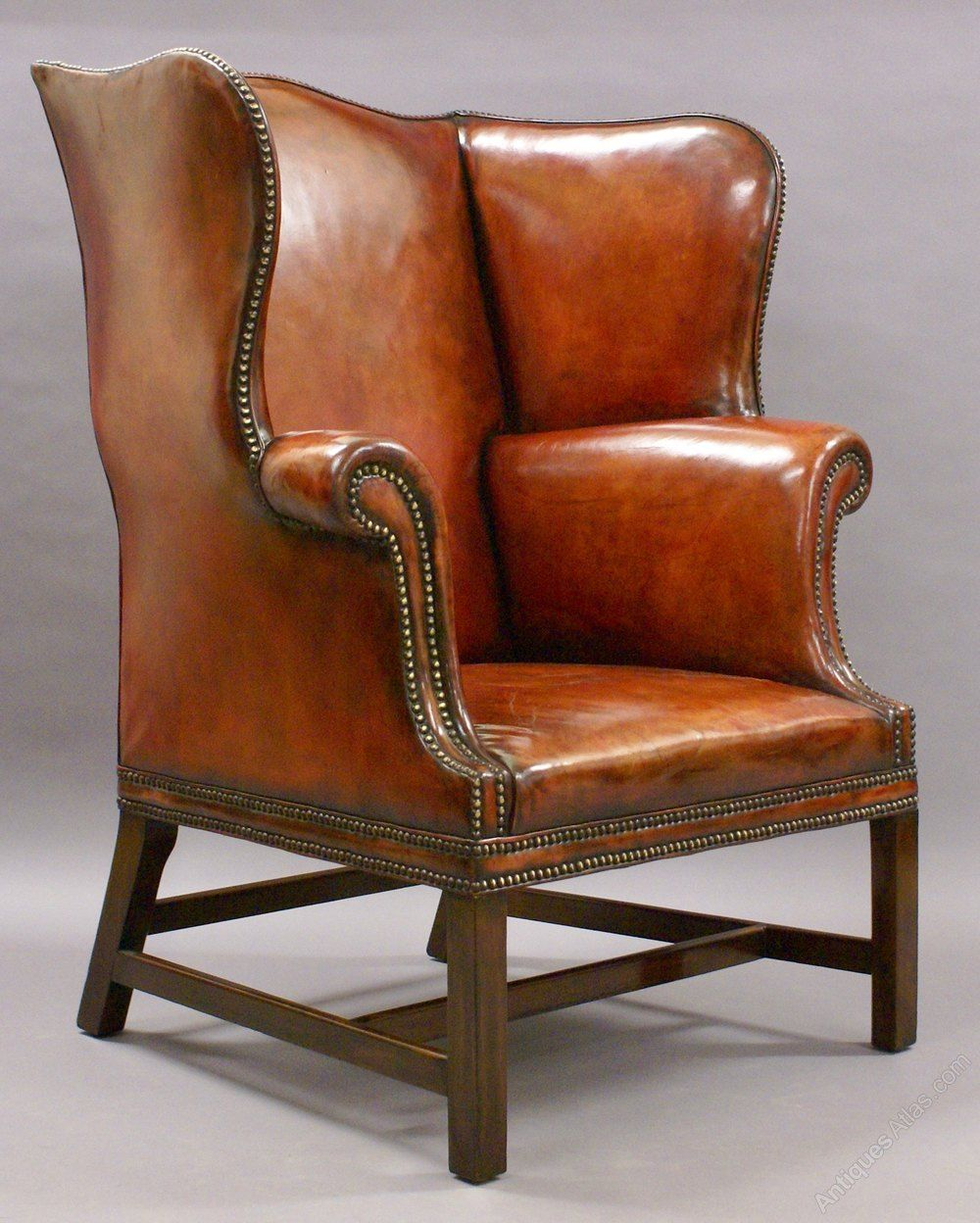 A Very Large George Iii Style Wing Chair Antiques Atlas