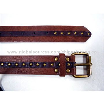 38mm Fashionaable punched PU leather belts