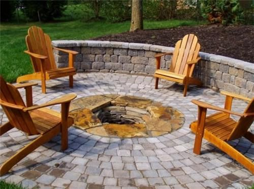 Photo of Fire Pit, Pavers Fire Pit Acadia Landscape Co. Knoxville, TN