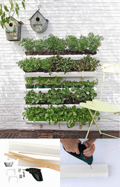 Jard n vertical de pl stico diy jard n vertical de for Jardines verticales pequenos
