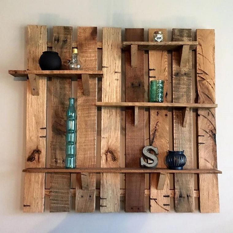 This Is A Simple Yet Awesome Pallet Wood Wall Shelf Idea