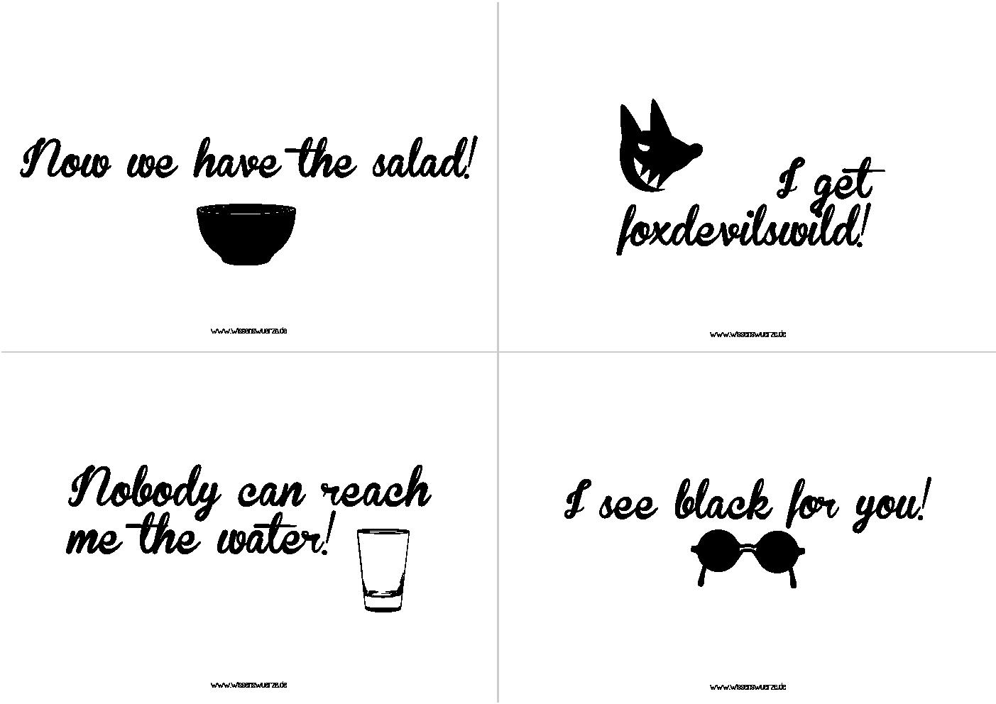 Das famose Quartett - Denglisch #3 | etiketten lables ...