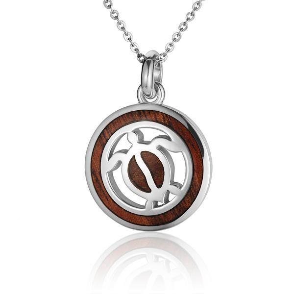 Hawaiian jewelry koa wood inlaid solid silver honu pendant hawaiian jewelry koa wood inlaid solid silver honu pendant aloadofball Images
