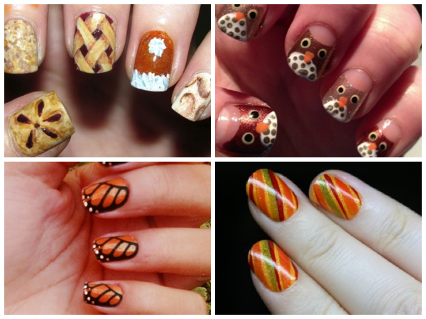 Love The Thanksgiving Nails In The Upper Left Corner Cute Little