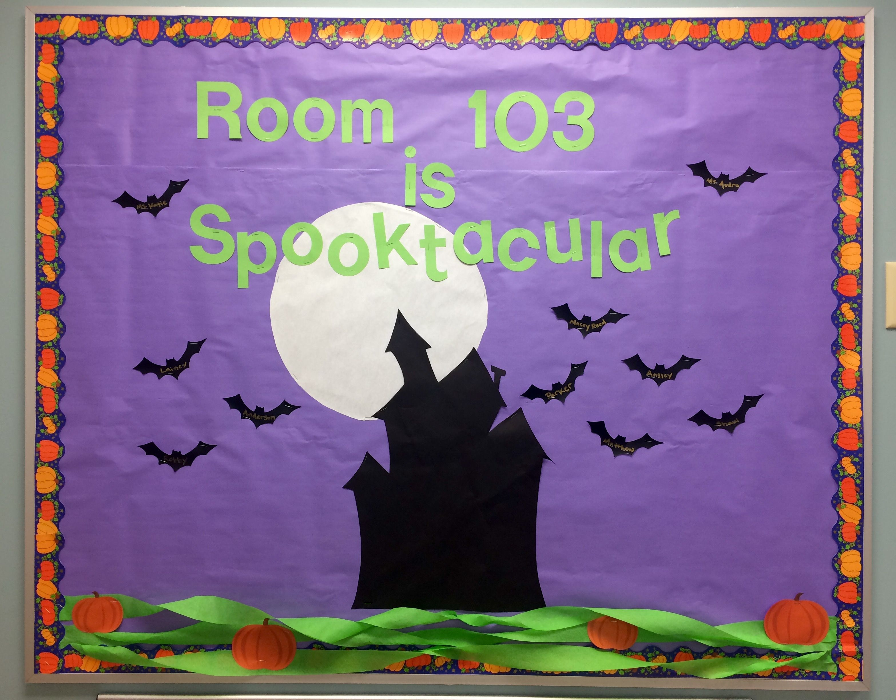 Preschool halloween bulletin board daycare october katie smith class room decor also best images classroom ideas rh pinterest