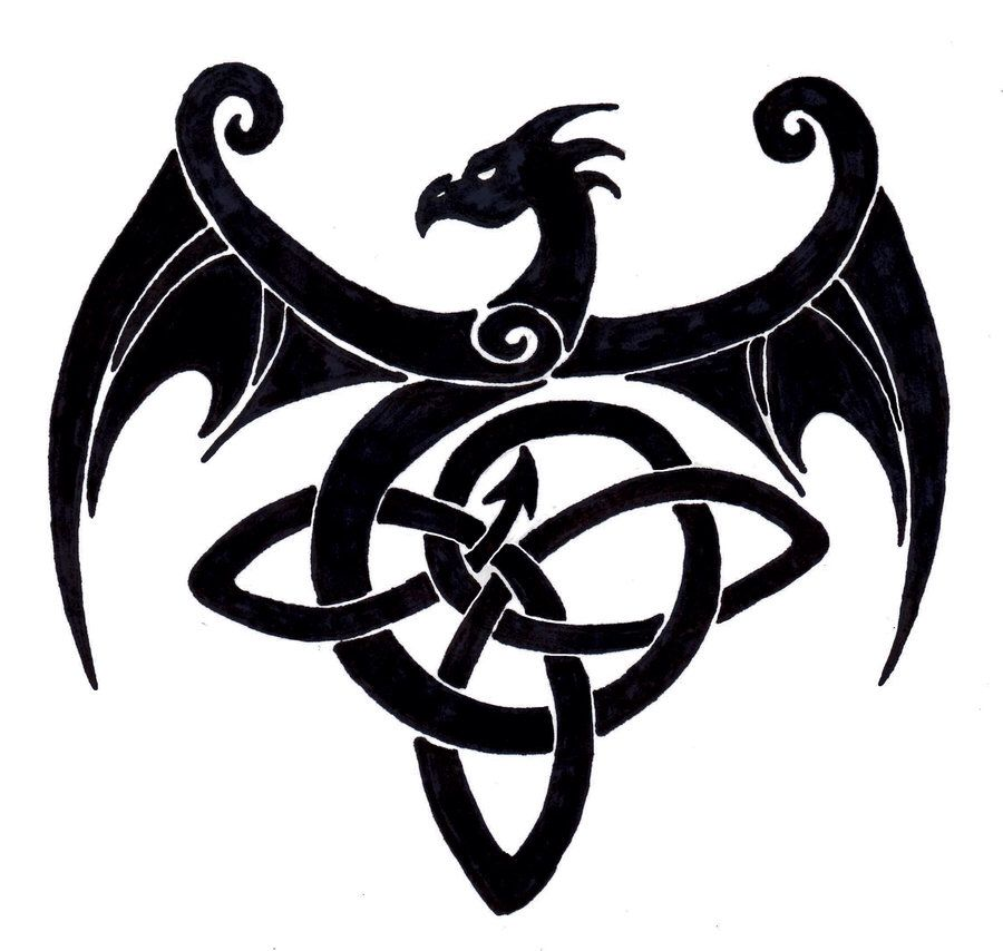 celtic dragon tattoo intertwined lines pinterest celtic dragon tattoos celtic dragon and. Black Bedroom Furniture Sets. Home Design Ideas