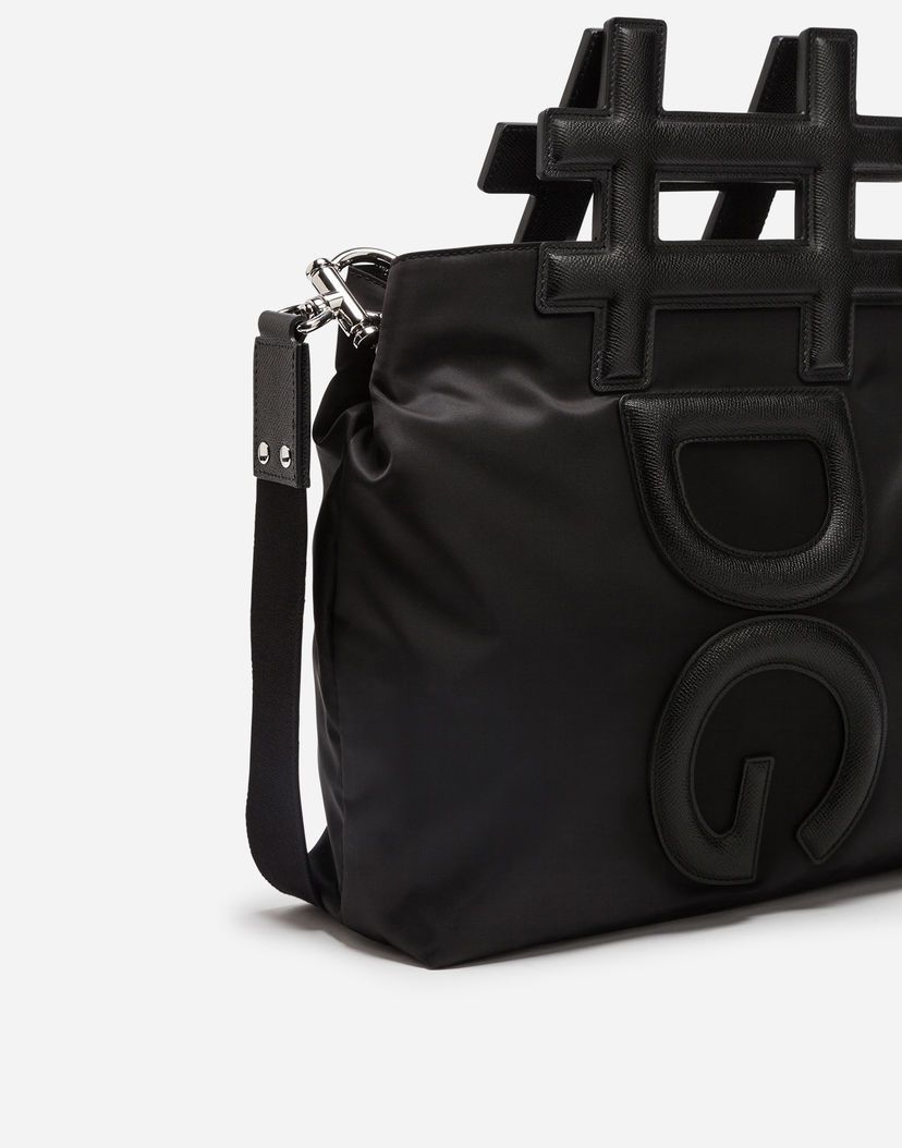 Dolce & Gabbana Black nylon and leather Instabag aSSJq8e