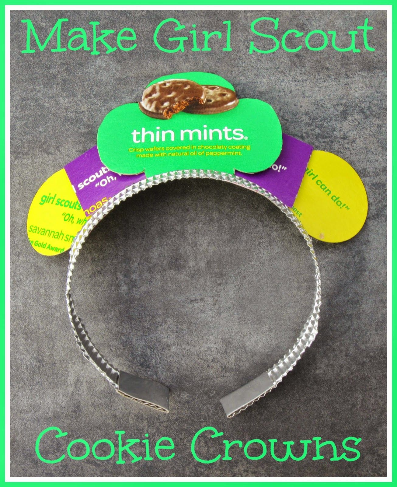 Girl scout scrapbook ideas - The Diary Of A Nouveau Soccer Mom Make Girl Scout Cookie Crowns Cookie Booth