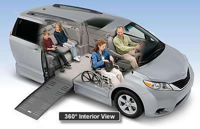 Toyota Power Infloor Wheelchair Van Braunability Wheelchair