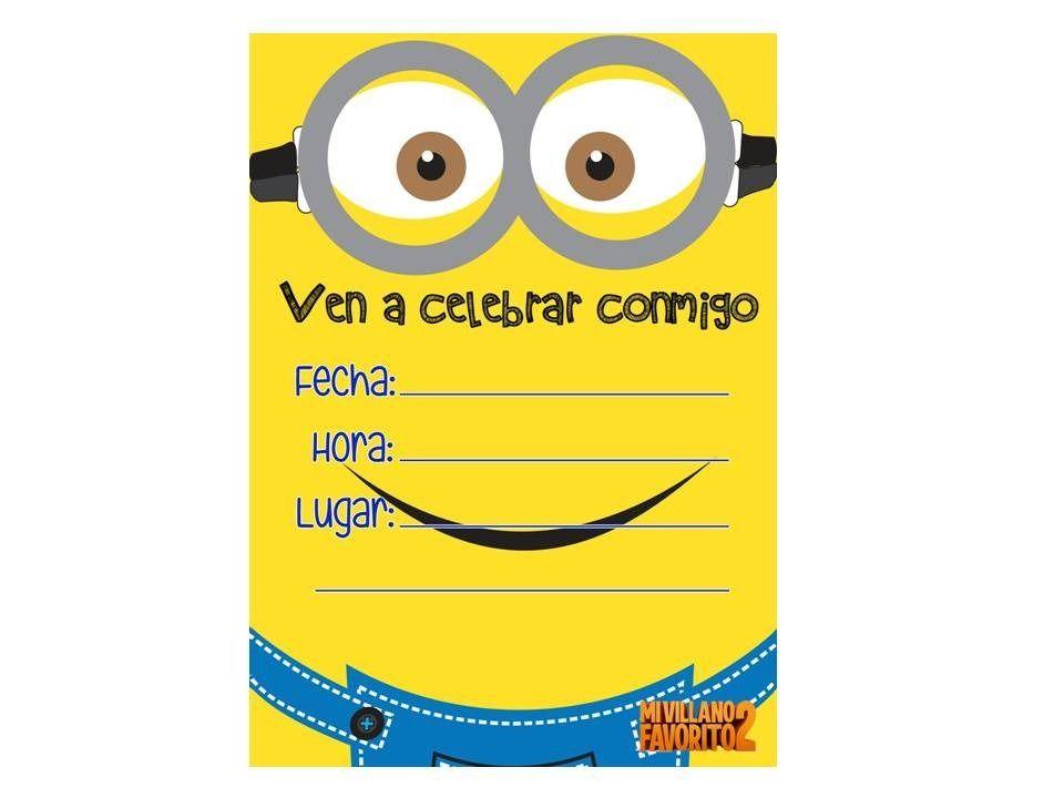 Tarjetas De Cumpleaños De Minions Para Imprimir Gratis 13 Hd