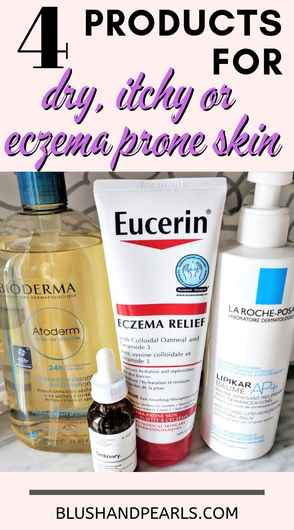 4 Products For Very Dry Itchy Or Eczema Prone Skin Blush Pearls Dry Skin Remedies Best Eczema Treatment Super Dry Skin