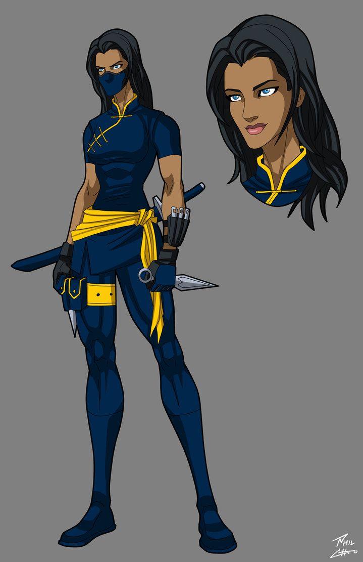 Ana Black Blue Hawk Cousin  Superhero Design, Superhero -6440