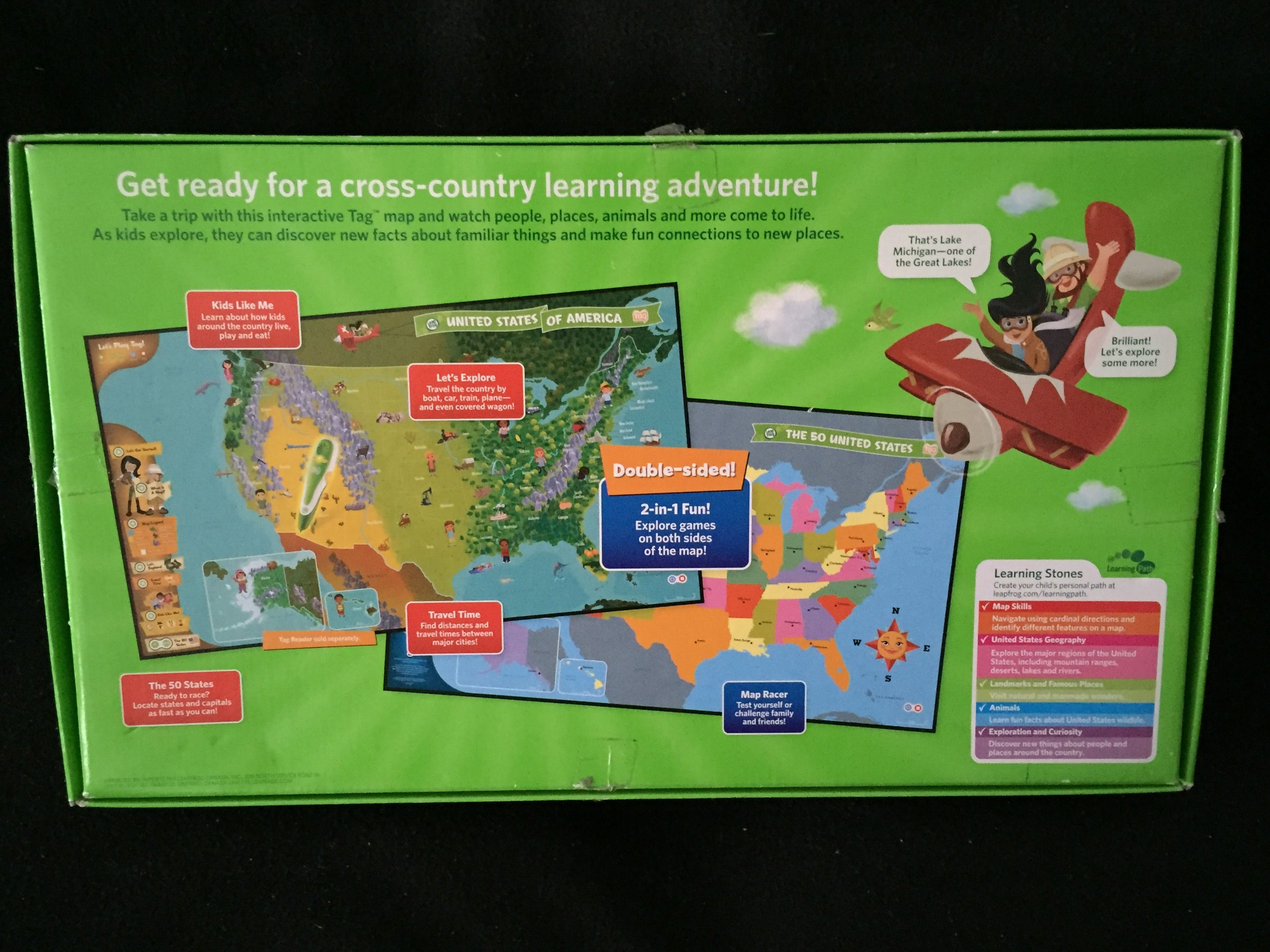 Let Me See A Map Of The United States.Leap Frog Interactive United States Map Kids Heaven In Lisle