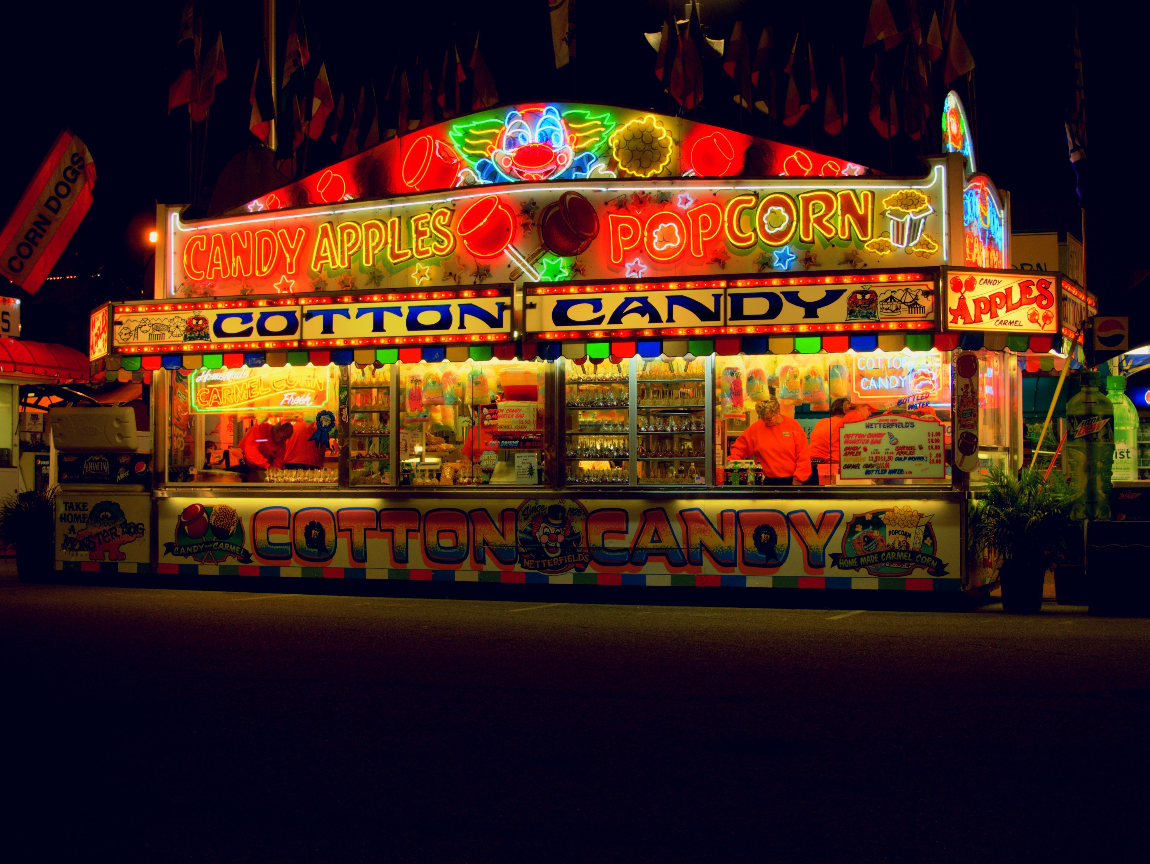 Cotton candy is a little tame for fair food dont ya think