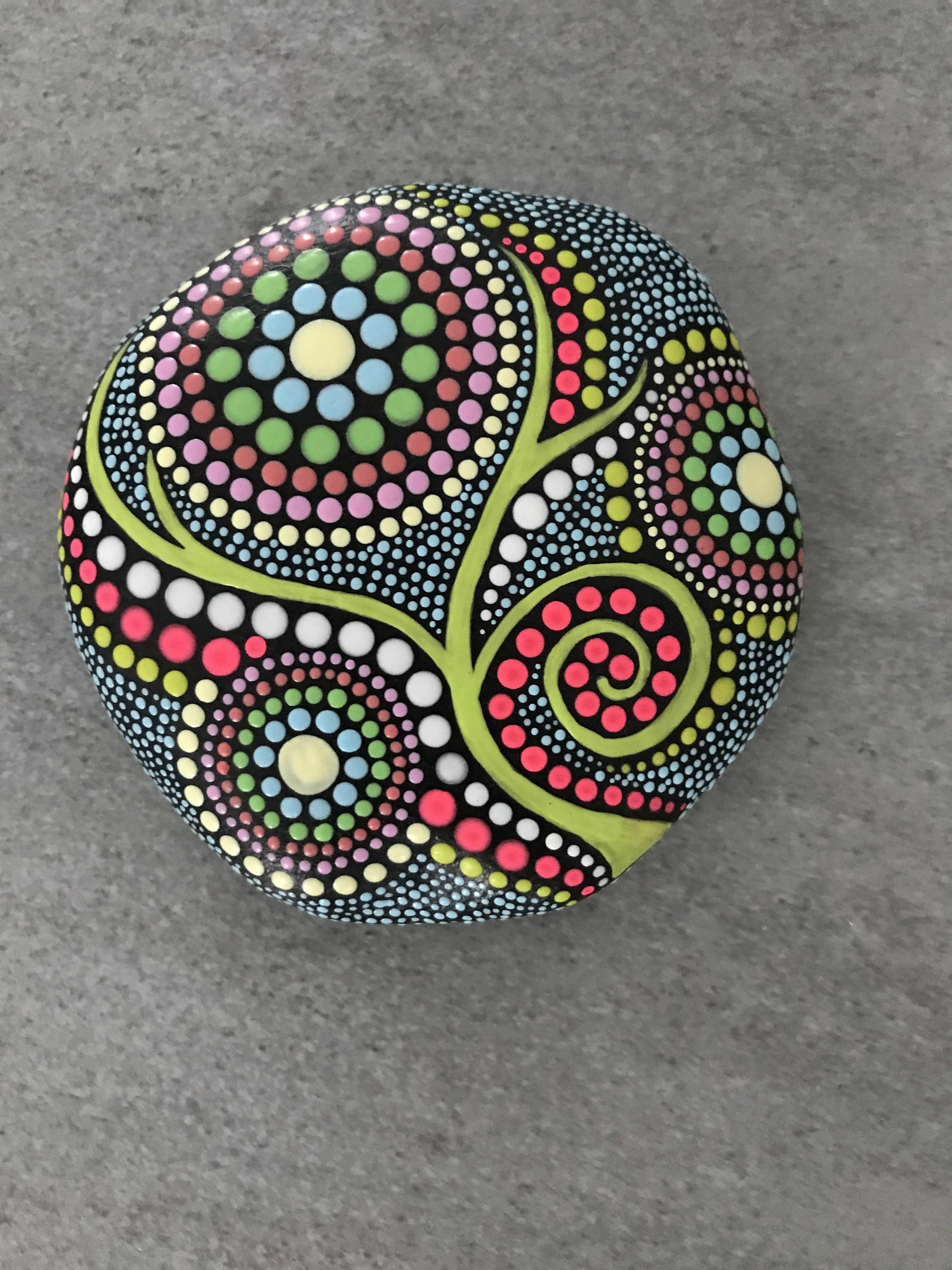 Selfmade By Corinne Dot Painting Stone Rocks Rock Painting