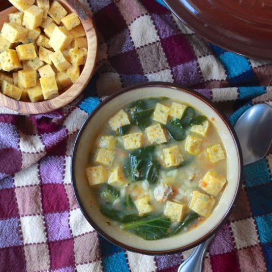 Italian Wedding Soup with Parmesan Soup Cubes