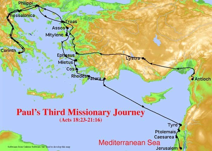 bPaulsb Third Missionary bJourneyb Timeline – Map Of Pauls Travels