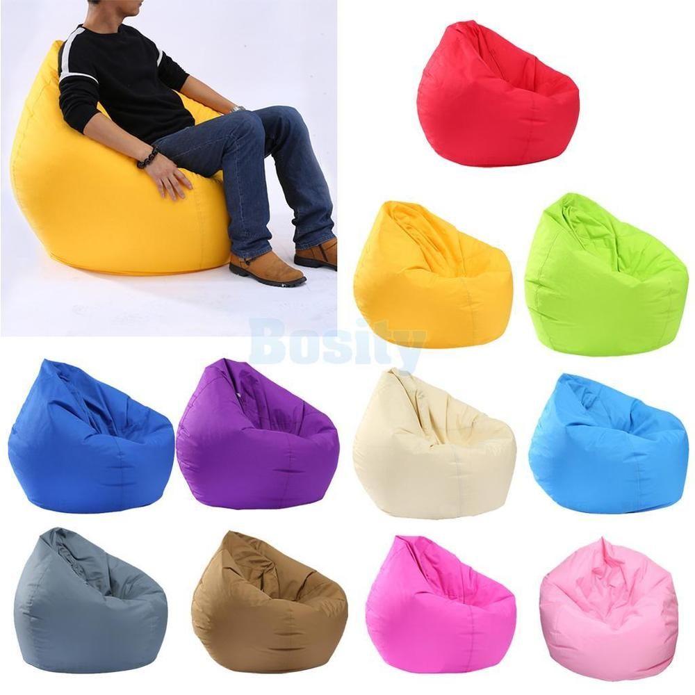 Waterproof Stuffed Animal Storage Bean Bag Chair Cover Extra Large Beanbag Unbranded Bean Bag Chair Bean Bag Chair Kids Large Bean Bag Sofa