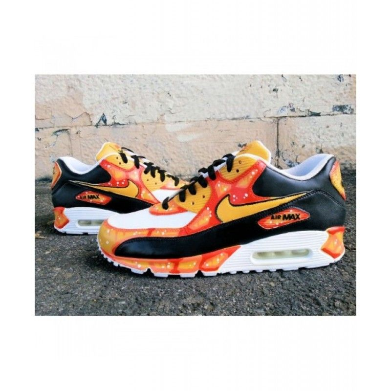 release date: f46a2 df20d Nike Air Max 90 Baltimore Orange Custom Shoes