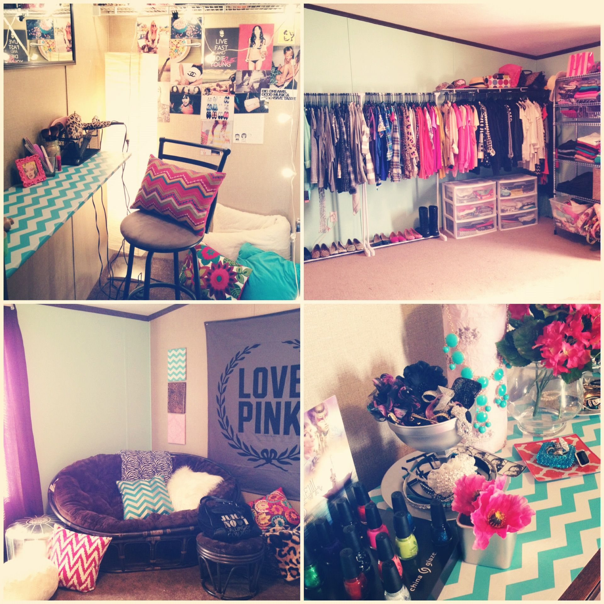 Revamped an unused room now a huge walk in closet w for Walk in closet ideas for teenage girls