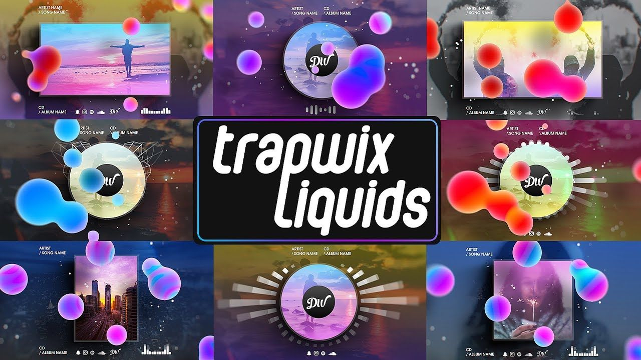 Music Visualizer Pack -TrapWix Liquids Trailer | After Effects