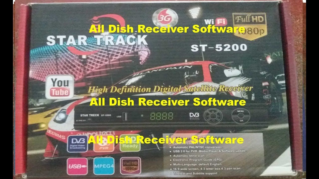 STAR TRACK ST 5200 HD RECEIVER AUTO ROLL BISS KEY NEW SOFTWARE | All