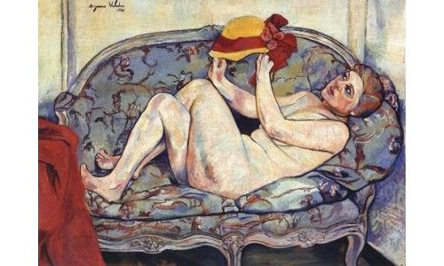 Nude painting female reclining