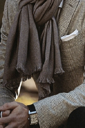 ♂ men with style great scarf and watch