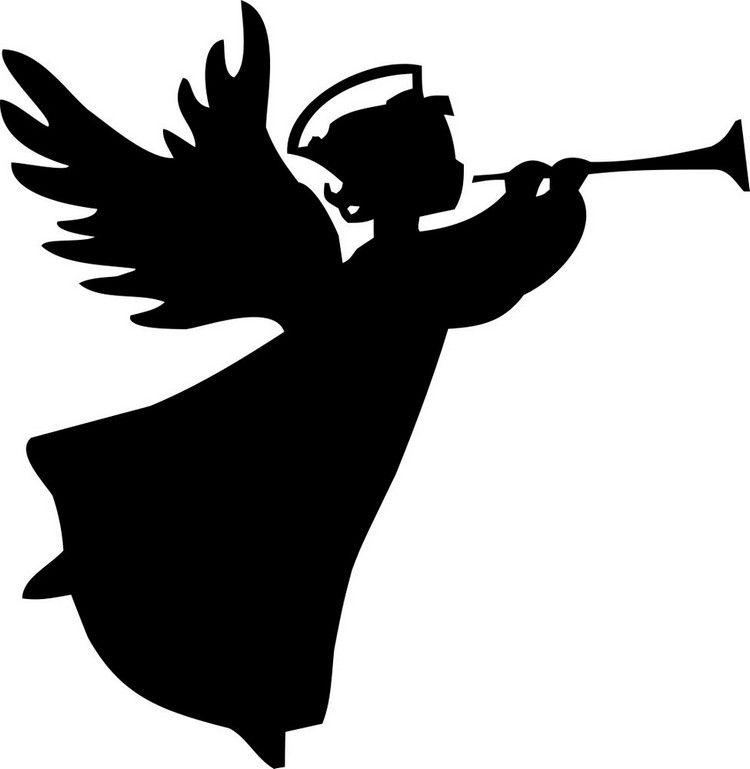 Scherenschnitt Vorlagen Zum Ausdrucken Weihnachten.Engel Mit Trompete Vorlage Music Bastelvorlagen Weihnachten