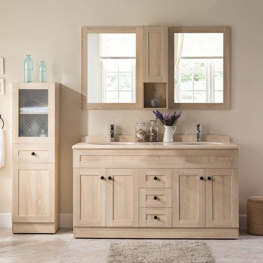 meuble 150 cm tout en couleur du bois, double vaque, armoire