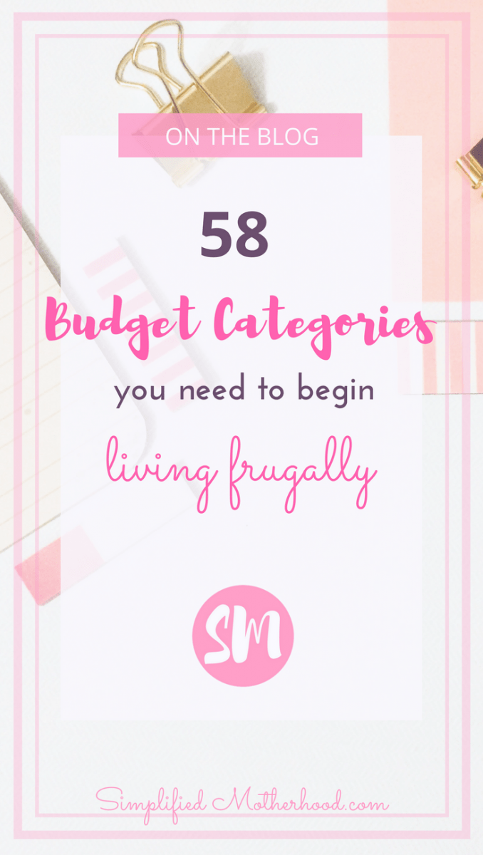 58 Budget Categories You Need to Begin Living Frugally | Female ...