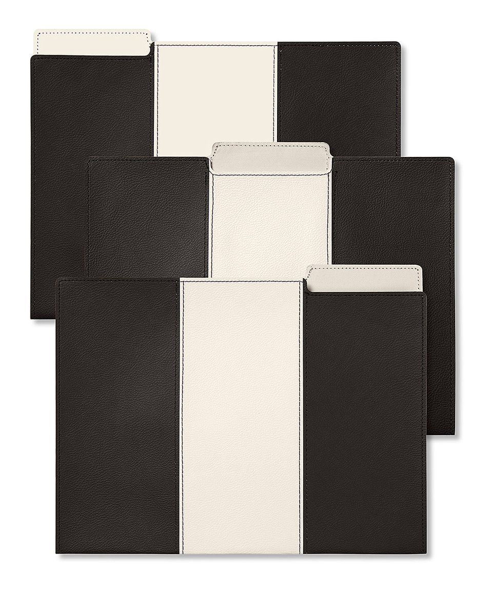 Take a look at this C.R. Gibson Ciao Leatherette File