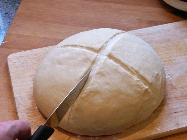 masa para pan casero con levadura seca