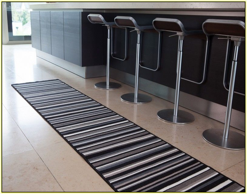 Striped Washable Kitchen Runner Rug | Rugs, Kitchen runner ...